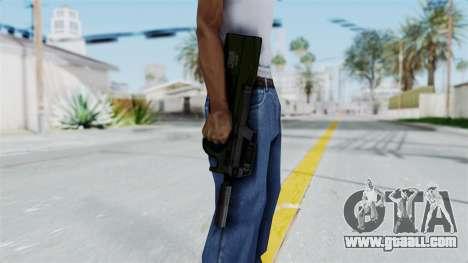 P90 Green for GTA San Andreas third screenshot