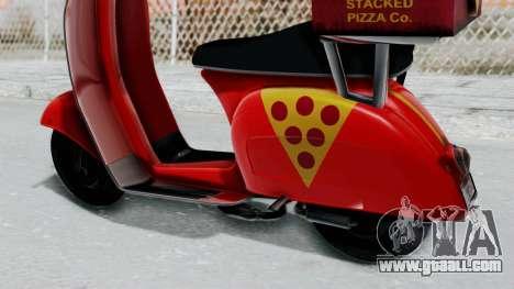 GTA 5 Pizza Boy for GTA San Andreas right view
