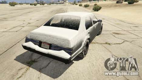 GTA 5 GTA IV Esperanto - winter version rear left side view