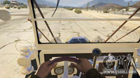 GTA 5 Ford T 1910 Passenger Open Touring Car back view