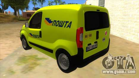 Fiat Fiorino for GTA San Andreas back left view