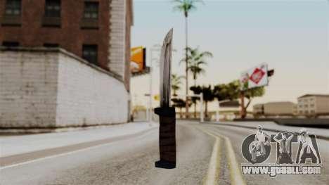 Batman Arkham City - Knife for GTA San Andreas second screenshot