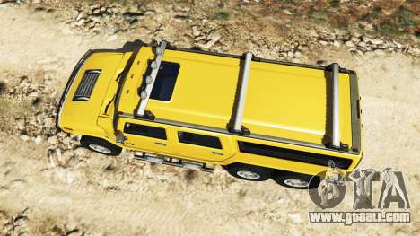 GTA 5 Hummer H2 6x6 v2.0 back view