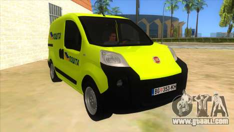 Fiat Fiorino for GTA San Andreas back view