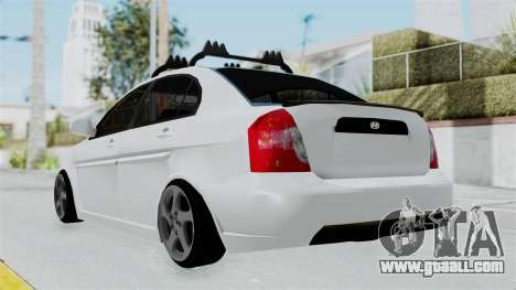 Hyundai Accent Essential Garage for GTA San Andreas left view