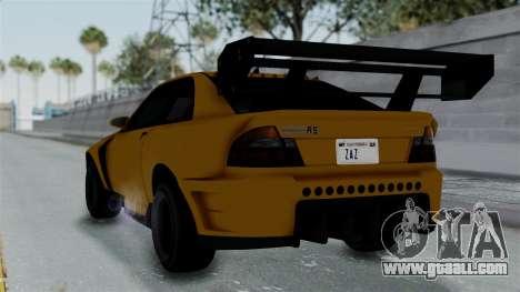 GTA 5 Karin Sultan RS Drift Big Spoiler PJ for GTA San Andreas left view