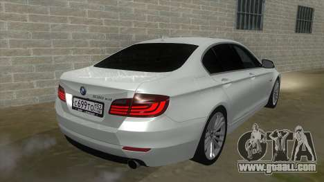 BMW 530XD F10 for GTA San Andreas back view