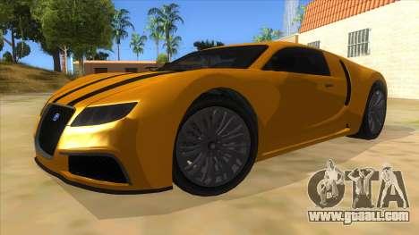 GTA 5 Truffade Adder for GTA San Andreas back view