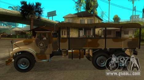 GTA V HVY Barracks OL for GTA San Andreas left view
