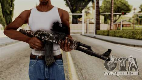 AK-47 F.C. Camo for GTA San Andreas third screenshot