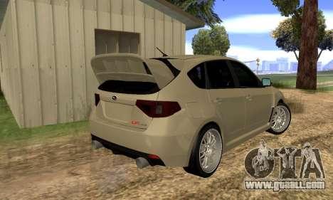 Subaru Impreza WRX STI 2008 LPcars v.1.0 for GTA San Andreas back left view