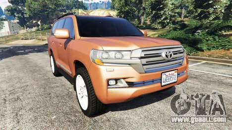 Toyota Land Cruiser 200 2016 for GTA 5