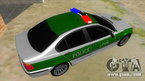 BMW Iranian Police for GTA San Andreas right view