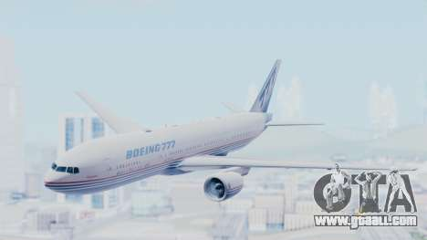 Boeing 777-200 Prototype for GTA San Andreas back left view