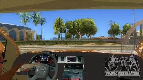 Audi Q7 for GTA San Andreas inner view