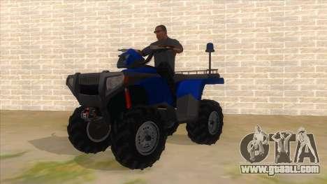 ATV Polaris Police for GTA San Andreas
