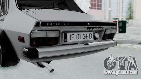 Dacia 1300 Shark (GFB V4) for GTA San Andreas back view