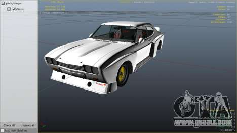 GTA 5 1974 Ford Capri RS right side view