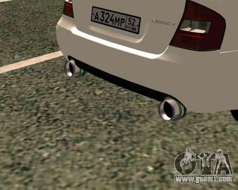 Subaru Legacy for GTA San Andreas back view