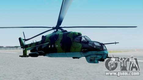 Mi-24V Afghan Air Force 112 for GTA San Andreas