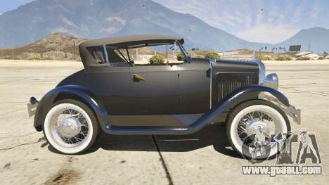GTA 5 Ford T 1927 Roadster left side view