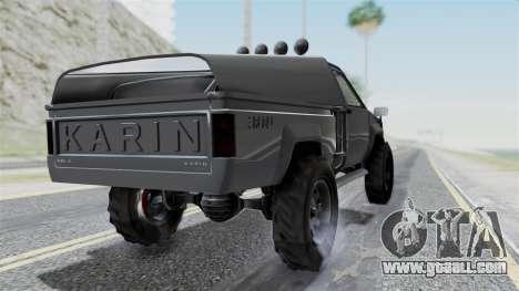 GTA 5 Karin Rebel 4x4 IVF for GTA San Andreas left view