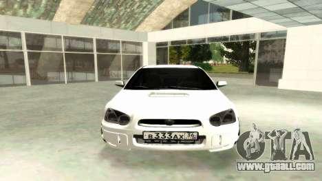 Subaru Impreza WRX STi Civil for GTA San Andreas right view