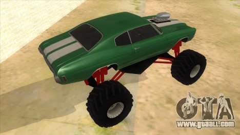 1970 Chevrolet Chevelle SS Monster Truck for GTA San Andreas right view