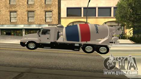 T600 Kenworth Cement Truck for GTA San Andreas back left view