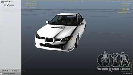 GTA 5 2006 Subaru Impreza WRX STI JDM right side view