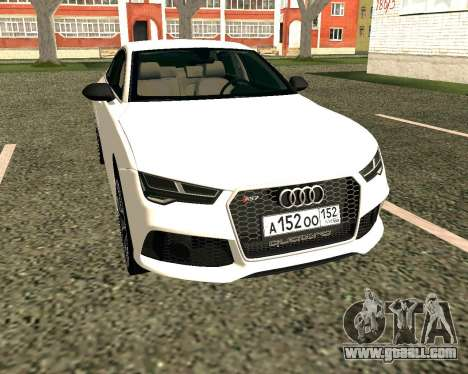 Audi RS7 Quattro for GTA San Andreas left view