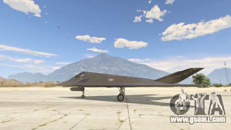 Lockheed F-117 Nighthawk Black 2.0 for GTA 5