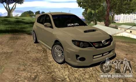 Subaru Impreza WRX STI 2008 LPcars v.1.0 for GTA San Andreas