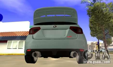 Subaru Impreza WRX STI 2008 LPcars v.1.0 for GTA San Andreas right view