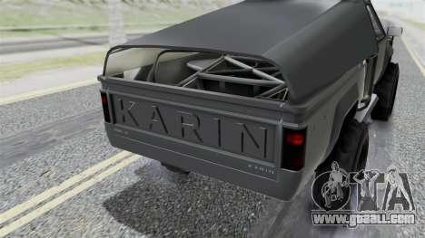 GTA 5 Karin Rebel 4x4 IVF for GTA San Andreas inner view
