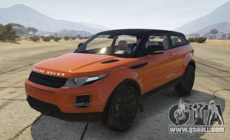 Range Rover Evoque 3.0 for GTA 5