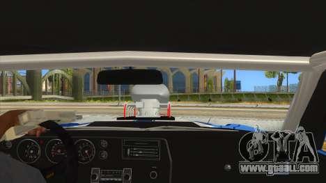 1970 Chevrolet Chevelle SS Drag for GTA San Andreas inner view