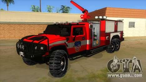 HUMMER H2 Firetruck for GTA San Andreas