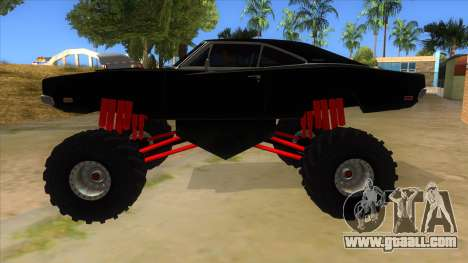 1969 Dodge Charger Monster Truck for GTA San Andreas left view