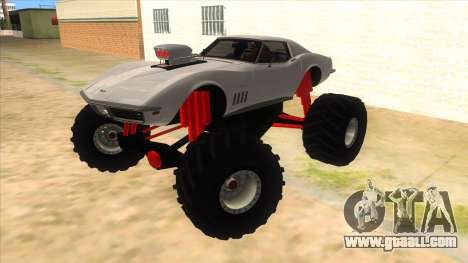 1968 Chevrolet Corvette Stingray Monster Truck for GTA San Andreas