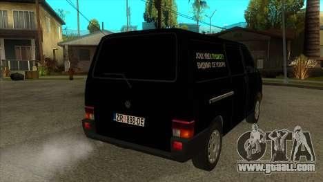 VW T4 Mrtvačka wheels for GTA San Andreas right view