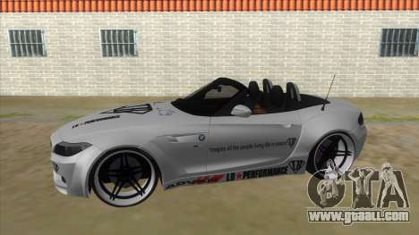 BMW Z4 Liberty Walk Performance Livery for GTA San Andreas left view