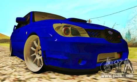 Subaru Impreza WRX STI Lisa for GTA San Andreas left view