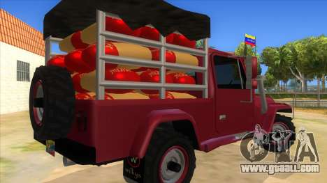 Jeep Pick Up Stylo Colombia for GTA San Andreas right view