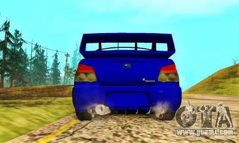 Subaru Impreza WRX STI Lisa for GTA San Andreas back view