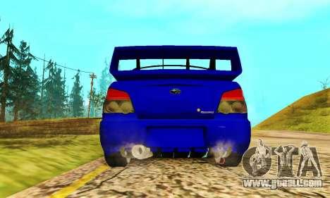 Subaru Impreza WRX STI Lisa for GTA San Andreas back view