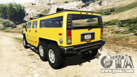 GTA 5 Hummer H2 6x6 v2.0 rear left side view