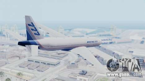 Boeing 777-200 Prototype for GTA San Andreas left view