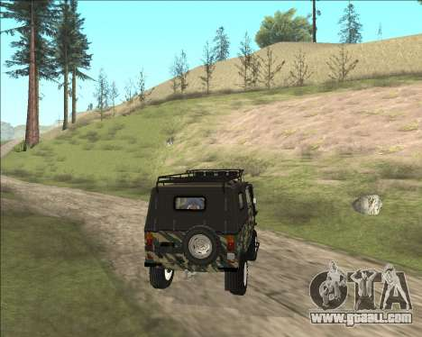 969М LuAZ Off Road for GTA San Andreas back left view