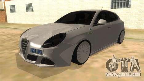 2011 Alfa Romeo Giulietta for GTA San Andreas
